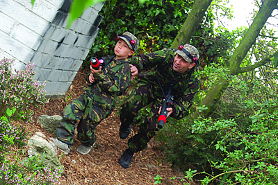 laser combat party for small children